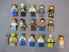 Lego CONSTRUCTION WORKERS FIREFIGHTER CARPENTER Misc. Minifigure Lot #1