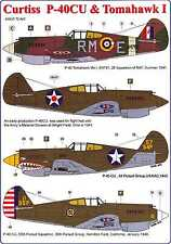 AML Models Decals 1/72 CURTISS P-40CU WARHAWK & TOMAHAWK I with Resin Detail Set
