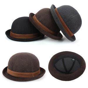 Children Kids Boys Toddler Dress Suit Round Fedora Trilby Bowler Hamburg Hats