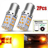 2* Canbus Amber BAU15S 7507 PY21W 1156PY LED Bulbs For Car Turn Signal Light UK