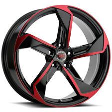 4 Revolution R20 20x8 5x45 40mm Blackred Wheels Rims 20 Inch Fits 2011 Toyota Camry