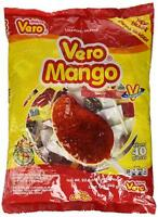 Vero Mango Con Chile Hard Candy Lollipops | Mexican Candy Lollipops - 40 Pieces