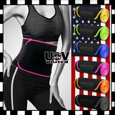 Sweat Waist Trimmer Belt Work Out Body Shaper Wrap Fat Burn Band Weight Loss U