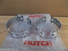 NOS BMX HUTCH USA MADE BEAR TRAP RACE PEDAL CAGES POLISHED NEVER FITTED