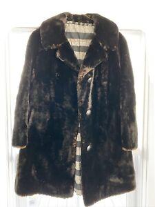 Vintage Seal Women's Black Fur Coat Size S/M fur label authority - 60s coat
