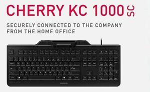 Cherry KC 1000 SC - slim corded smartcard keyboard-BLACK