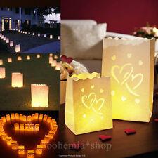 20x Doppel Herz Lichttüten Luminarias Candlebags Kerzentüten Hochzeit Party Deko