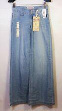 NWT American Rag Raleigh Denim Blue Jeans Wide Flare Leg Light Wash Sz 1