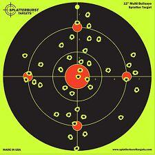 10 Pack - 12 inch Multi Bullseye - Splatterburst Shooting Targets - Gun - Rif...