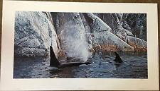"Ron S. Parker ""Deep Water - Orcas"" S/N Ltd Ed Print #824/1250"