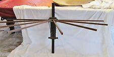 Antique Hopkins Perfection 8-Spindle Folding Wall Mounted Clothes Dryer Drier