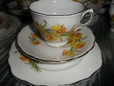 Royal Vale Tea Set x 1Tea Trio Royal Vale Daffodil Floral English China Tea Set