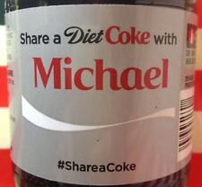 Share A Diet Coke With Michael Limited Edition Coca Cola Bottle 2014 USA