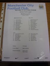 31/08/2013 Colour Teamsheet: Manchester City v Hull City  . Thanks for viewing o