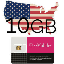 Prepaid t-Mobile USA SIM Karte mit 25 GB Datenvolumen + nat. Tel.
