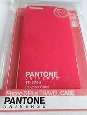 Pantone Unvierse Iphone 6 Plus Estuche de viaje nuevo caso rojo, gran agradable