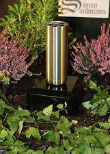 Grabvase aus Edelstahl   Grabschmuck   Grablape   Grablicht   Grab   Vase >NEU<