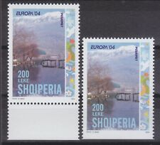 2004 Albania. Albanian Stamps. Europa. Second Stamp Error in Perforation. Down