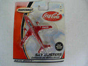 MATCHBOX SKYBUSTERS COCA-COLA AIRLINER NEW ON CARD BLISTER PACK