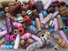 50 African Bead Mix Acrylic for Craft Jewellery Making, Hair styling, 8 - 30mm