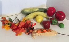 Lot Of 8 Vintage Ceramic Fruit Fall Pic Centerpiece Cornocopia Fall Thanksgiving