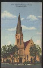 POSTCARD MONTGOMERY AL/ALABAMA ST SAINT JOHN'S EPISCOPAL CHURCH 1930'S