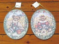 Flue Covers Pair Bears Wall Pictures Gallery Graphics Nwt