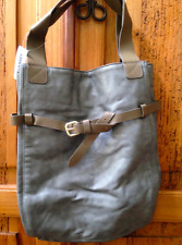 Old Navy Belted Large Tote Vegan Leather Gray/Brown New with Defects