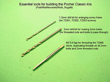 Essential tools for building Pocher Classic kit Fiat Alfa Mercedes Rolls Bugatti