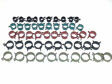 50pc Ford Mustang NOS Fuel Gas Vacuum Fuel Hose Spring Pinch Clamps Clips CB