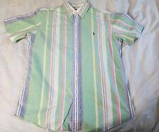 Polo Ralph Lauren S/S Oxford Button Down Shirt Multi Color Custom Fit Medium