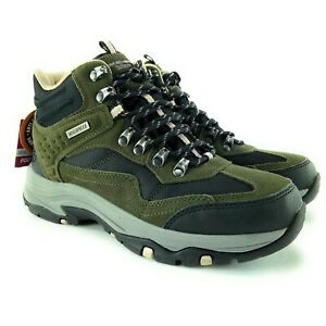Skechers Women's Outdoor Trego Base Camp Olive Black Hiking Boots Sizes 6.5 - 11