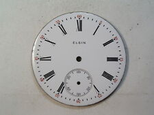 Red 5-60 Pocket Watch Dial D-72 Antique 16 Size Elgin Roman Numeral