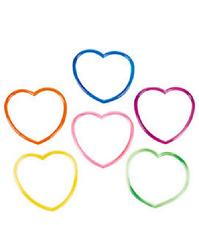 Vinyl Heart-Shaped Jelly Bracelets 36 Piece Valentine Day Party Favor