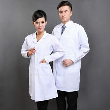 Plus Size S -3XL Medical White Long Lab Doctor Coats Women Men Lab Coat