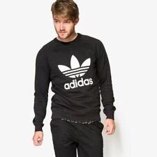 Adidas Original Men's Trefoil Sweatshirt Crew Neck Sweat Shirt Jumper-Black