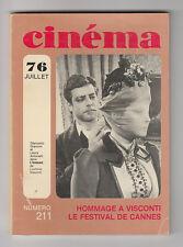 CINEMA 76 N° 211 LUCHINO VISCONTI ROBERT DE NIRO DIRK BOGARDE ISABELLE ADJANI