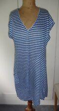WRAP STRIPED LINEN DRESS (SIZE 10)