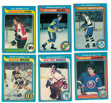 1979-80 OPC NHL Hockey Lot - Pick only the cards you need