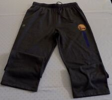 Golden State Warriors Cool Base Sweatpants Large Gray Polyester Majestic NBA