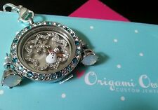 ORIGAMI OWL Winter Wonderland Set: tri colored face, snowman & opal studs
