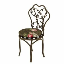 Dollhouse Miniature 1:12 Scale Wire Garden Chair w/Cushion in Brown