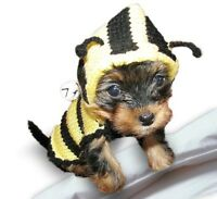Bee Dog Costume sweater hoodie puppy pet clothes Clothing X Small Medium Large