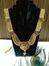 Indian Ethnic Kundan Royal Rani Haar Necklace Bollywood Fashion Jewelry