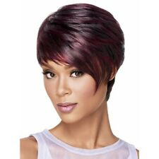 Fashion WomenAfro Short pixie cut style wig with bangs straight Synthetic wigs X