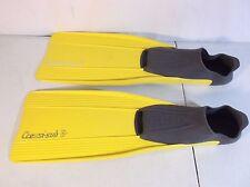 Cressi-sub Rondine Clio Yellow/Gray Size 30-32, Youth 11.5-13 Swim Fins