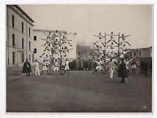 PHOTO ANCIENNE Gymnastique Gym Gymnaste Sport Pyramide humaine L. Grasse Napoli