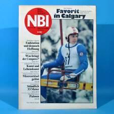 DDR NBI 6 1988 Computer Calgary Brecht Miß Albena Erdgastrasse Plastmodellbau R