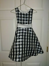 New Girl Rare Editions Black Plaid Black White Holiday Portrait Dress Size 8