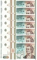 Romania 1000 LEI 1993 ~ Lot of 10 Consecutive Notes ~ UNC 68-70 ~ P- 102